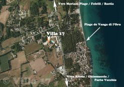 Vue satellite Villa 17